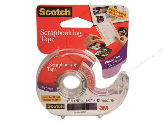 "Scotch Tape Scrapbooking Tape Double Sided Removable 1/2""x 300"""