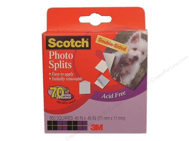 "Scotch Photo Splits Acid Free Acid-Free .45"" Square 850 pc"