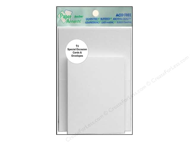 "Paper Accents Card & Envelopes 2.5""x 3.5"" White 15pc"