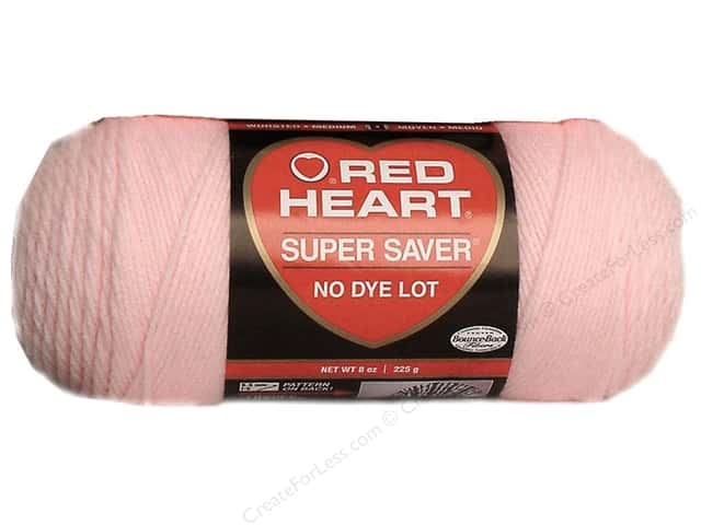 Red Heart Super Saver Yarn #0724 Baby Pink 7 oz.