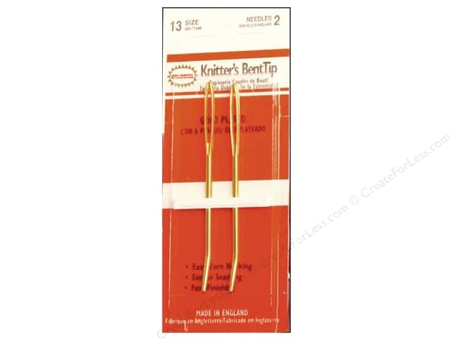 Colonial Needle Knitters' Bent Tip Needles 2 pc