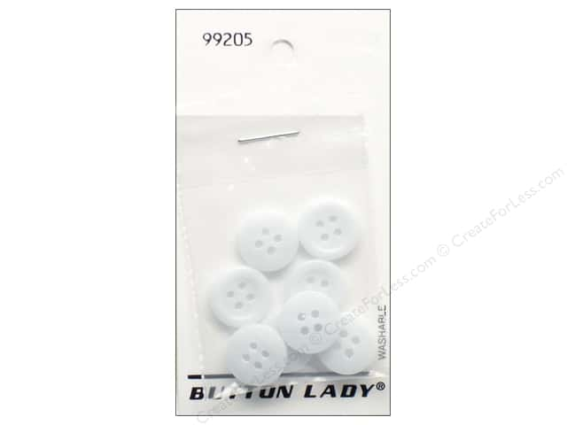JHB Button Lady Buttons 1/2 in. Light Blue #99205 8 pc.
