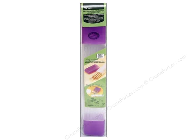 Clover Knitting Needle Tube Case Purple