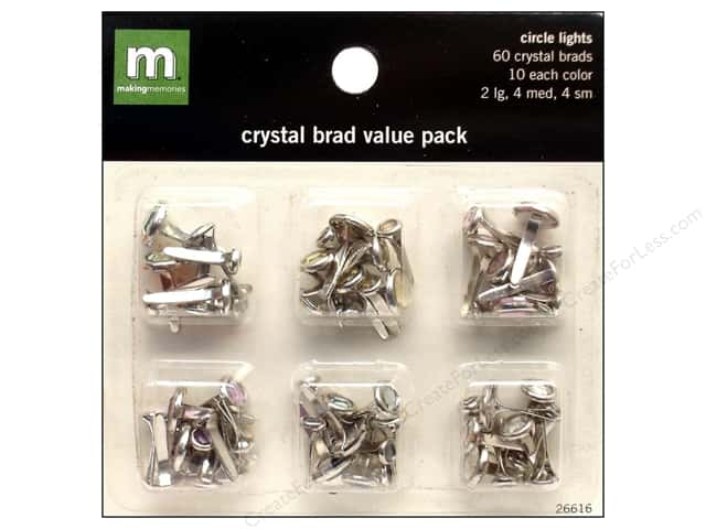 Making Memories Brads Value Pack Crystal Circle Lights
