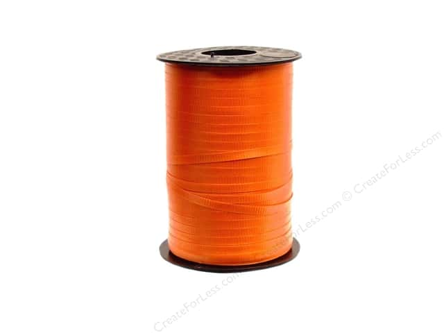 "Hollywood Curling Ribbon Crimped 3/16"" 500yd Orange"