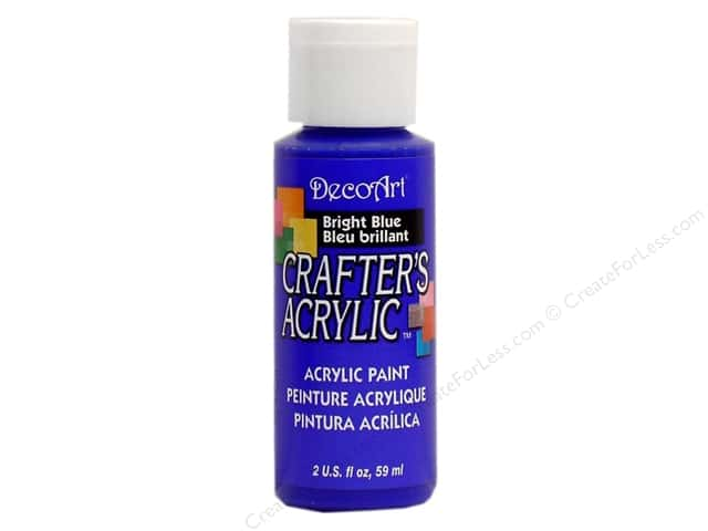 DecoArt Crafter's Acrylic Paint 2 oz. #101 Bright Blue