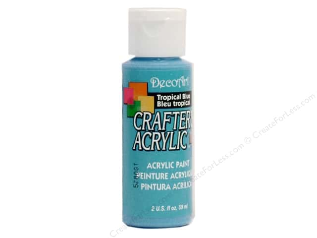 DecoArt Crafter's Acrylic Paint 2 oz. #102 Tropical Blue