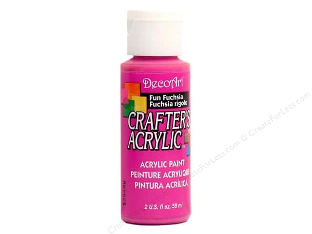 DecoArt Crafter's Acrylic Paint 2 oz. #99 Fun Fuchsia