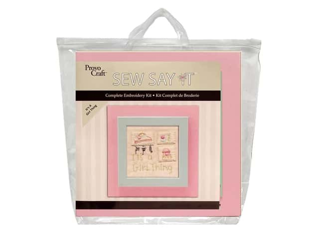 Provo Sew Say It Embroidery Kits It's A Girl Thing