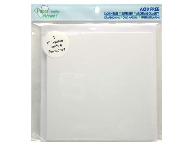 6 x 6 in. Blank Card & Envelopes by Paper Accents 5pc. White