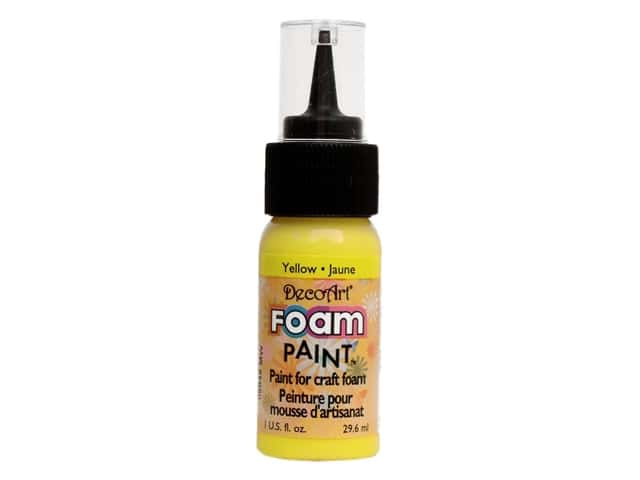 DecoArt Foam Paint 1oz Bottle Yellow