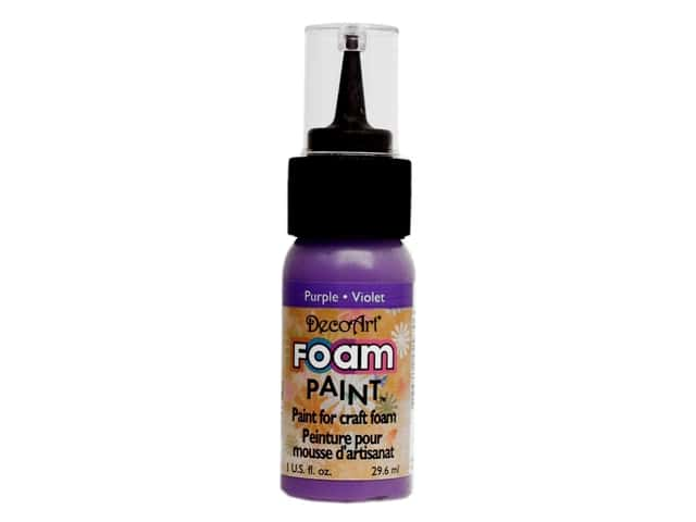 DecoArt Foam Paint 1oz Bottle Purple