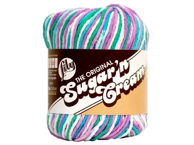 Lily Sugar 'n Cream Yarn  2 oz. #2316 Beach Ball Blue