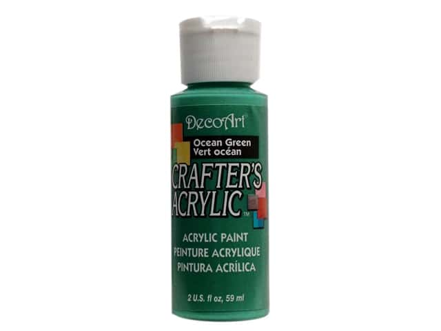 DecoArt Crafter's Acrylic Paint 2 oz. #90 Ocean Green