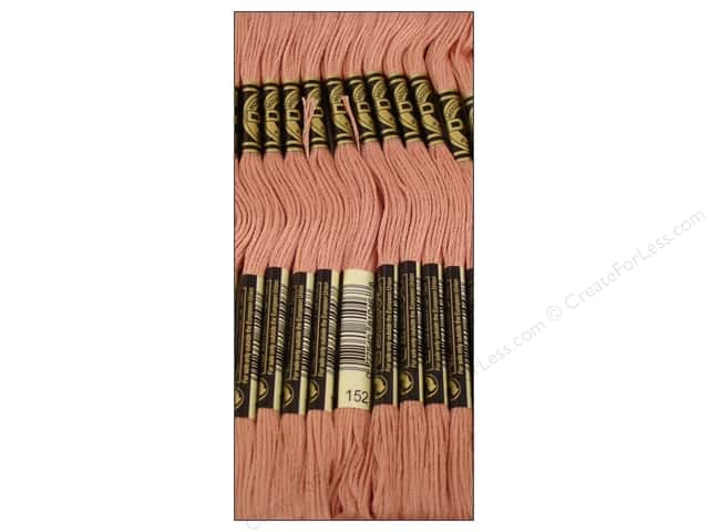 DMC Six-Strand Embroidery Floss #152 Medium Light Shell Pink (12 skeins)
