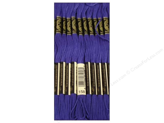 DMC Six-Strand Embroidery Floss #158 Md Very Dark Cornflower Blue (12 skeins)