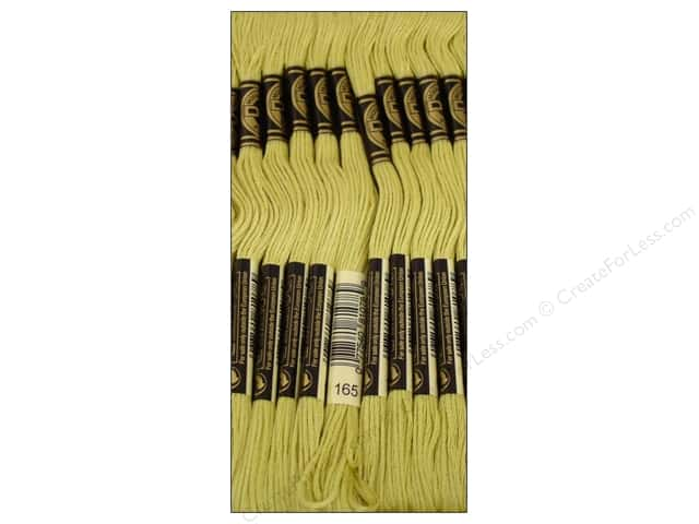 DMC Six-Strand Embroidery Floss #165 Very Light Moss Green (12 skeins)