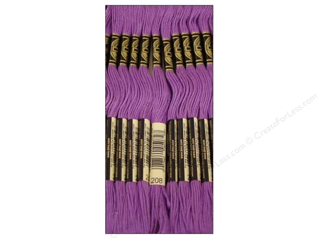 DMC Six-Strand Embroidery Floss #208 Very Dark Lavender (12 skeins)