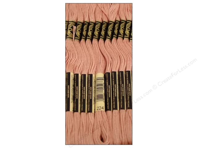 DMC Six-Strand Embroidery Floss #224 Light Shell Pink (12 skeins)