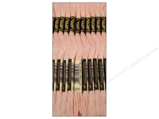 DMC Six-Strand Embroidery Floss #225 Ultra Lightra Light Shell Pink (12 skeins)