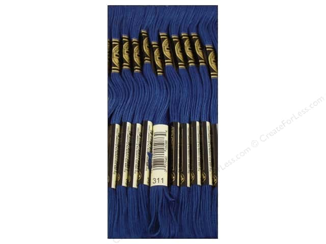 DMC Six-Strand Embroidery Floss #311 Mediumium Navy Blue (12 skeins)