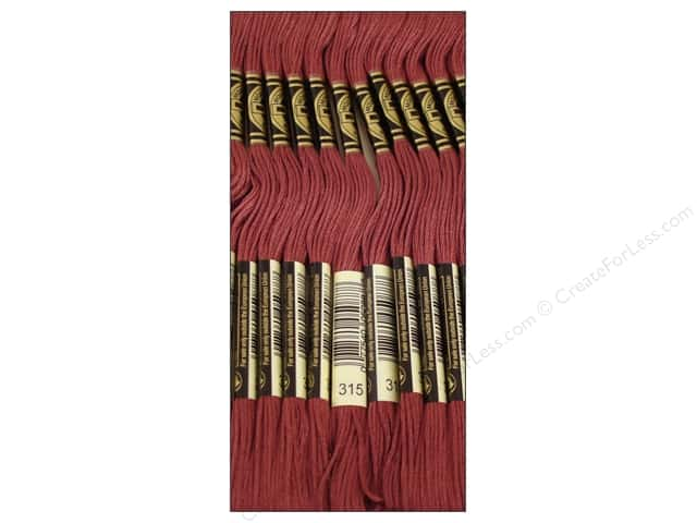 DMC Six-Strand Embroidery Floss #315 Dark Antique Mauve (12 skeins)