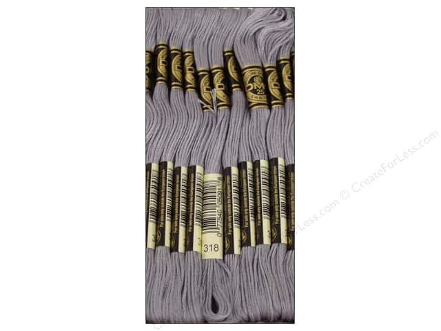 DMC Six-Strand Embroidery Floss #318 Light Steel Grey (12 skeins)