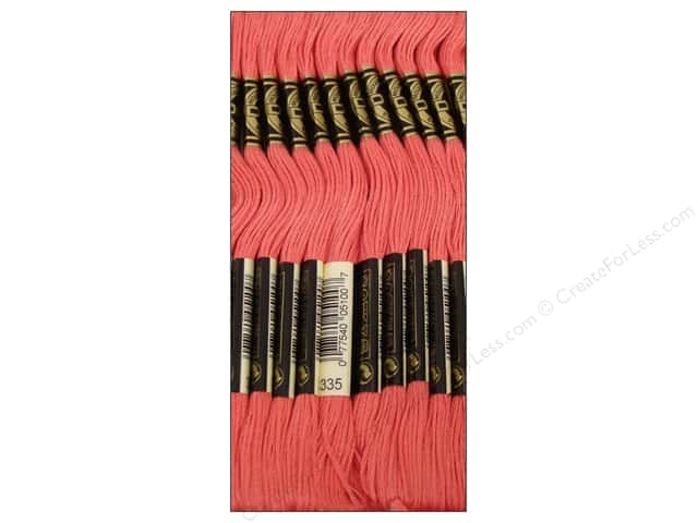 DMC Six-Strand Embroidery Floss #335 Rose (12 skeins)
