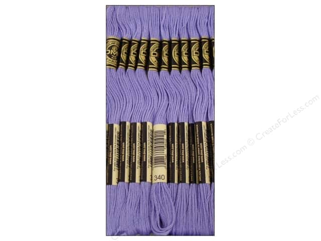 DMC Six-Strand Embroidery Floss #340 Medium Blue Violet (12 skeins)