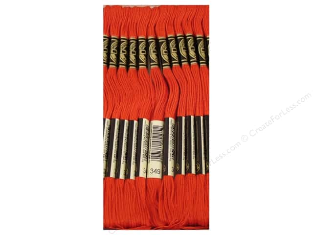 DMC Six-Strand Embroidery Floss #349 Dark Coral (12 skeins)