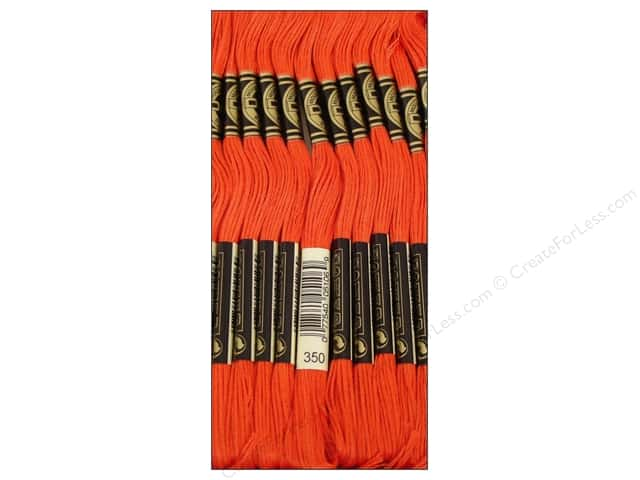 DMC Six-Strand Embroidery Floss #350 Medium Coral (12 skeins)