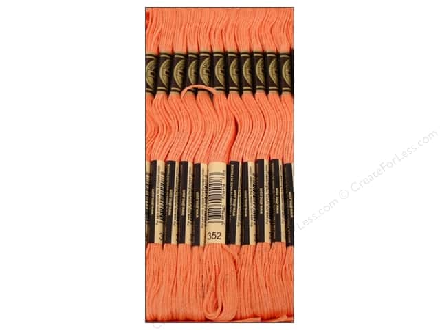 DMC Six-Strand Embroidery Floss #352 Light Coral (12 skeins)