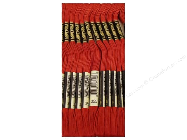 DMC Six-Strand Embroidery Floss #355 Dark Terra Cotta (12 skeins)