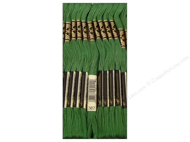 DMC Six-Strand Embroidery Floss #367 Dark Pistachio Green (12 skeins)