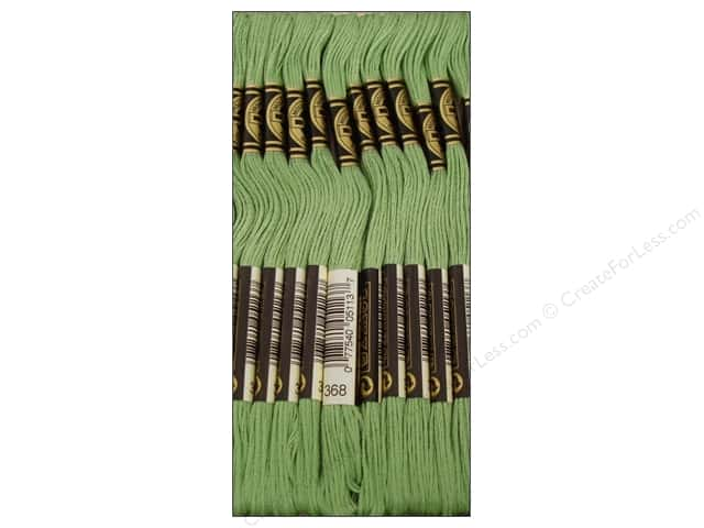 DMC Six-Strand Embroidery Floss #368 Light Pistachio Green (12 skeins)
