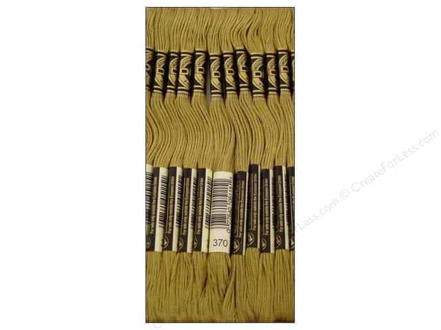DMC Six-Strand Embroidery Floss #370 Mediumium Mustard (12 skeins)