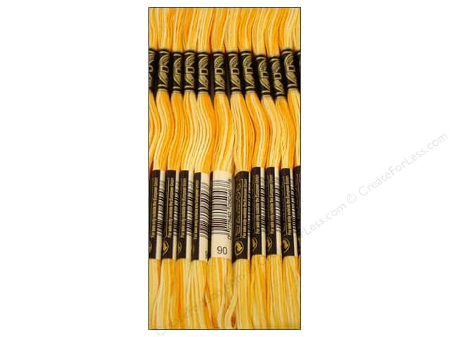 DMC Six-Strand Embroidery Floss #90 Variegated Yellow (12 skeins)