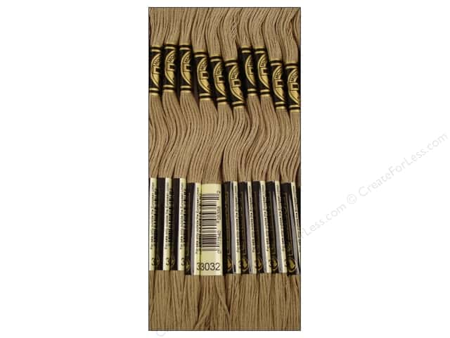 DMC Six-Strand Embroidery Floss #3032 Medium Mocha Brown (12 skeins)