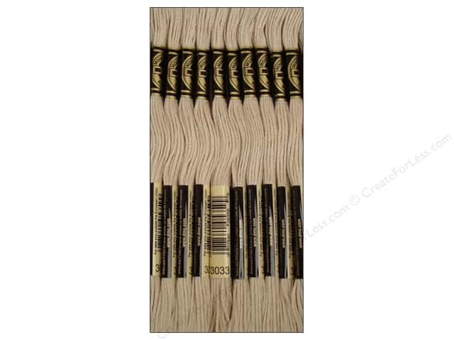 DMC Six-Strand Embroidery Floss #3033 Light Mocha Brown (12 skeins)
