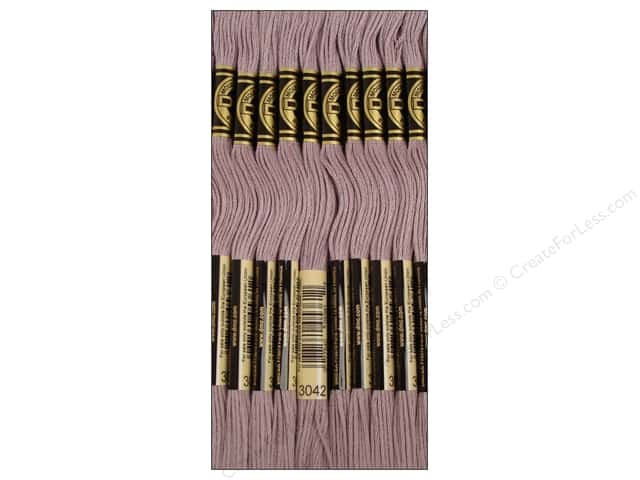 DMC Six-Strand Embroidery Floss #3042 Light Antique Violet (12 skeins)