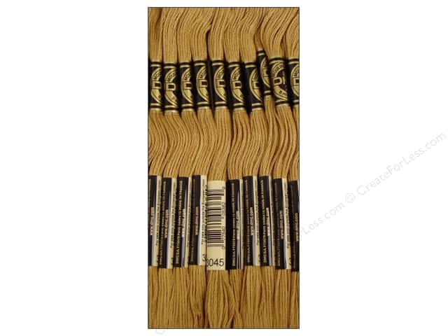 DMC Six-Strand Embroidery Floss #3045 Dark Yellow Beige (12 skeins)