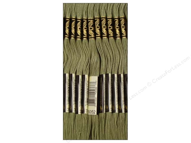 DMC Six-Strand Embroidery Floss #3052 Medium Green Grey (12 skeins)