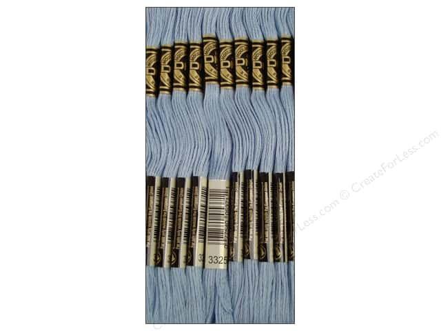 DMC Six-Strand Embroidery Floss #3325 Light Baby Blue (12 skeins)
