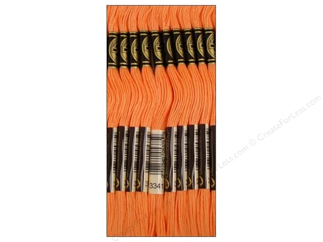 DMC Six-Strand Embroidery Floss #3341 Apricot (12 skeins)