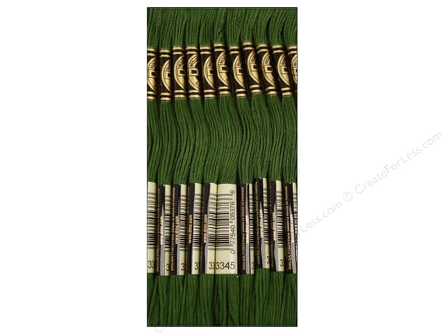 DMC Six-Strand Embroidery Floss #3345 Dark Hunter Green (12 skeins)