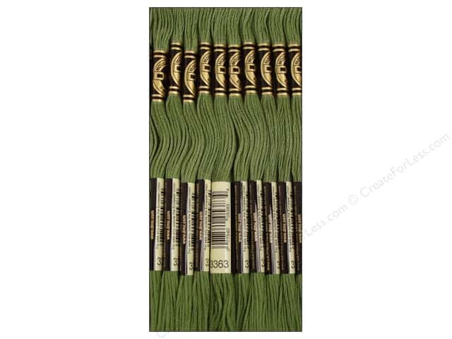 DMC Six-Strand Embroidery Floss #3363 Medium Pine Green (12 skeins)