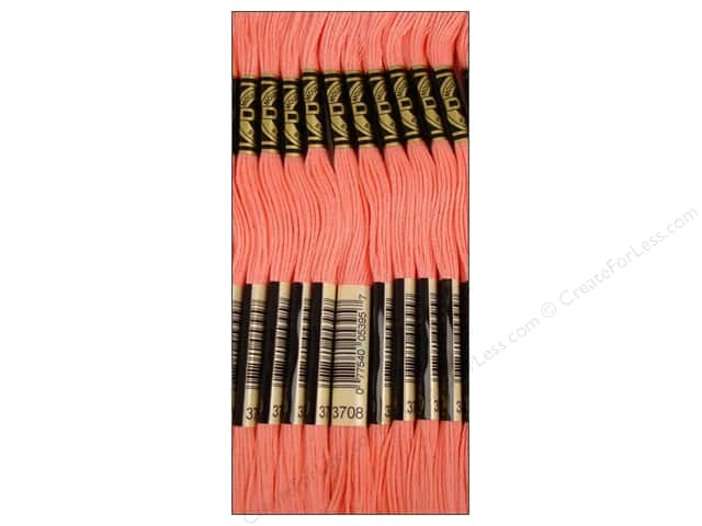 DMC Six-Strand Embroidery Floss #3708 Light Melon (12 skeins)