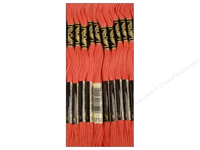 DMC Six-Strand Embroidery Floss #3712 Medium Salmon (12 skeins)
