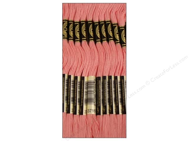 DMC Six-Strand Embroidery Floss #3716 Light Dusty Rose (12 skeins)