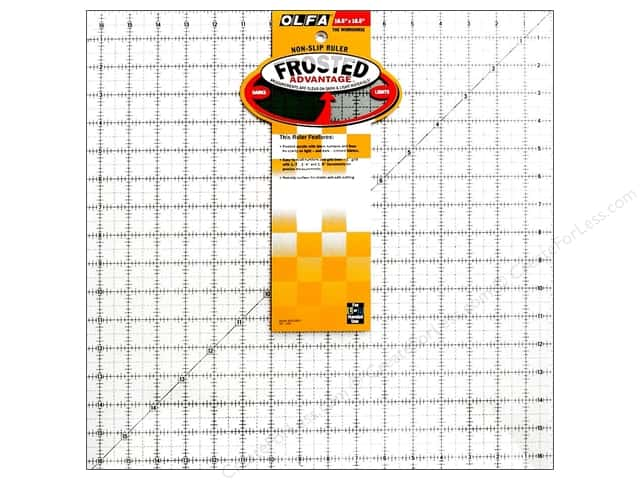 "Olfa Frosted Acrylic Ruler 16.5""x 16.5"" Square"